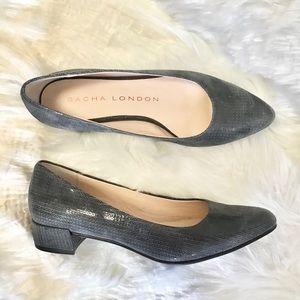 Sacha London Candice Geometric Block Heel Size 8